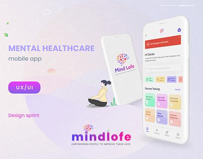 MINDLOFE - Mental healthcare app UX/UI
