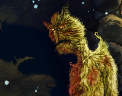 The monster illustration