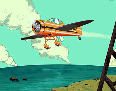 comic plane