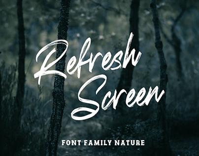 Refresh Screen - Handbrush Typeface