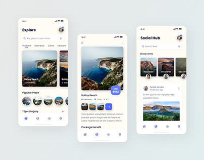 World Discover - Travel Mobile App Design