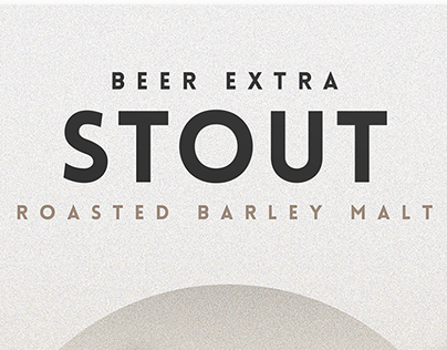 Beer Extra Stout Poster