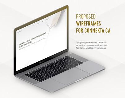 Proposed website design for Connekta