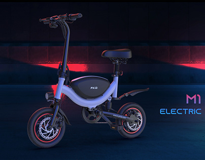 PXID mini portable electric bike moped with brush-less