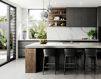 Visualization | Contemporary House | Kitchen