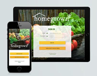 homegrown Local Goods Exchange App