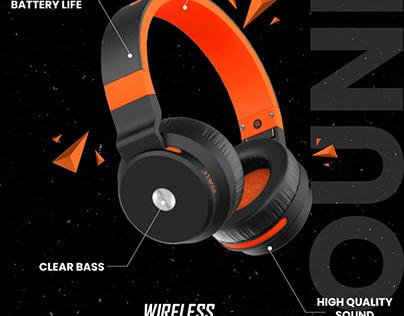 Headphone poster design