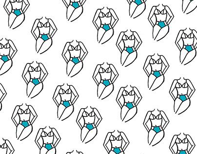 Swimsuit   illustración y patrones