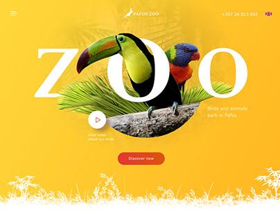 Web desing UI concept Zoo
