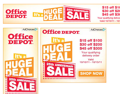 OFFICE DEPOT - STATIC & DYNAMIC ADS