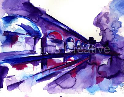 Manchester Waterways | Watercolours