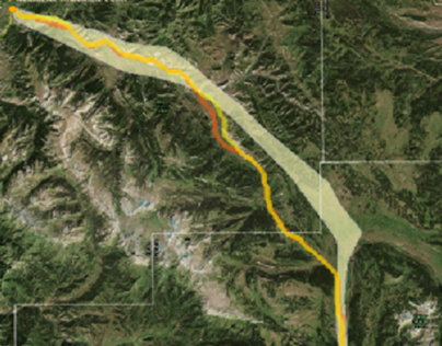 Potential Pronghorn Migration Routes