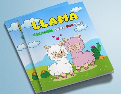 LLAMA Coloring book for kids