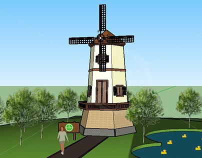 3D Project : Dutch Windmill 2017