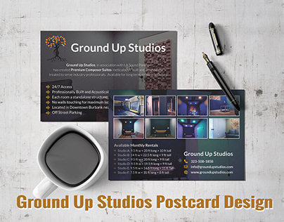 GROUND UP STUDIOS POSTCARD
