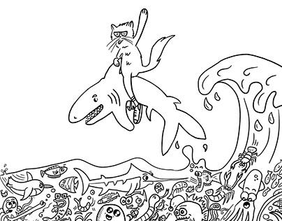 Ocean - coloring page