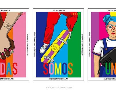 Propuesta de sistema de afiches para Jackie Smith
