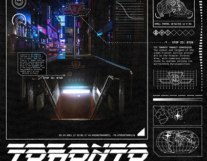 Cyberpunk Toronto Poster Series