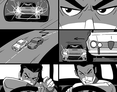 Lonesome Road Short Film Storyboards