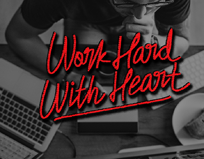 work hard with heart  background via @unsplash