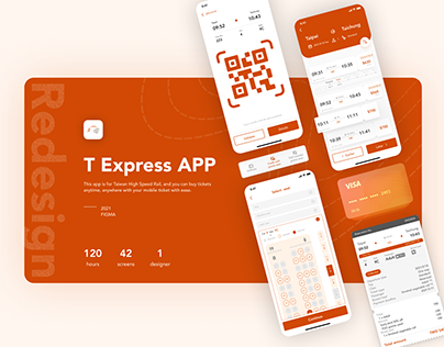 T Express APP | High Speed Rail | Redesign | UI/UX