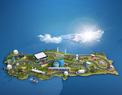Ipragaz products through map of Turkey