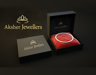 Aksher Jewellers Logo Design.