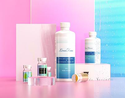 Cosmetic lenses packging design \ Lensfans 美瞳品牌 包装设计