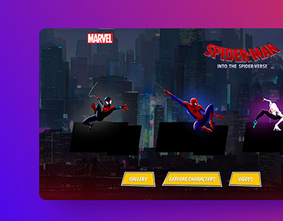 Into The Spider verse Website redesign Concept