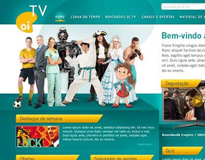 Portal da Oi TV direcionado aos vendedores das lojas
