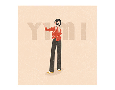 Illustration about YIMI