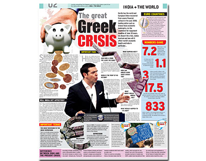 Design of the Greek Crisis in Times of India
