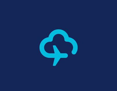 Skrydziai.lt logo design