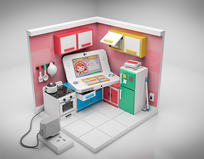 3DS Cooking Mama Kitchen 3D