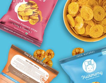 Harmony Plantain Chips - Identity Design.