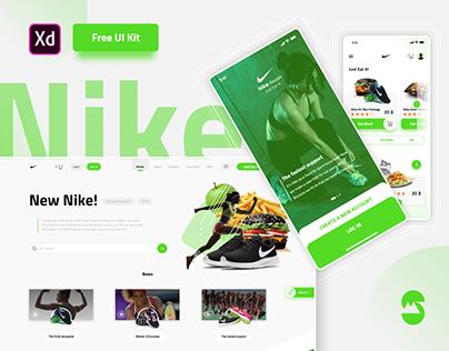Nike New Rebranding ( Free UI Kit )