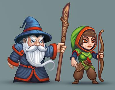 Castle Defenders - Boardgame Characters