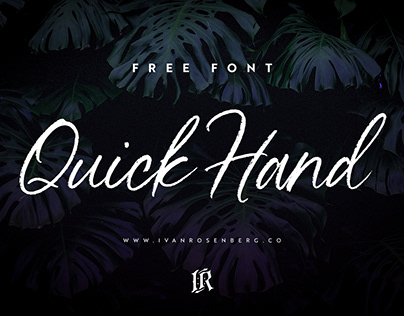 FREE FONT: Quick Hand