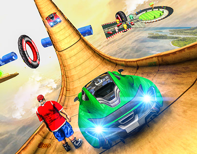GT Car Mega Ramp Stunt Icon