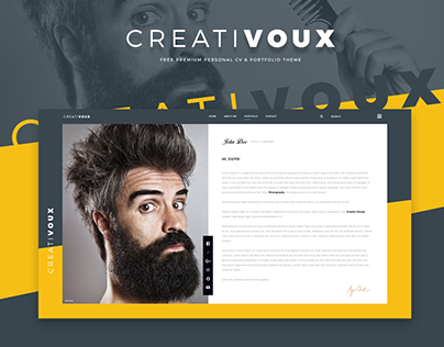 CreatiVoux - Free Psd CV & Portfolio Theme