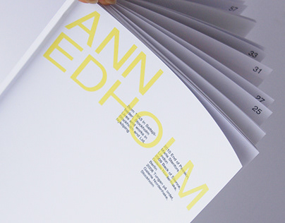 Ann Edholm - Editorial Design
