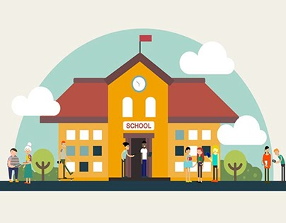 Microsoft School in the Cloud | 2D animation explainer