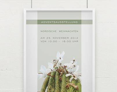 Florist's invitation for seasonal show