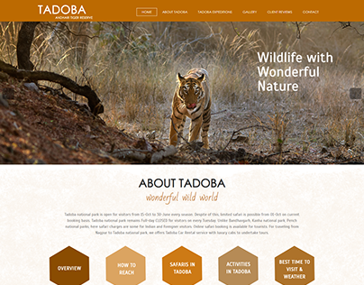 Tadoba Website Design and Development