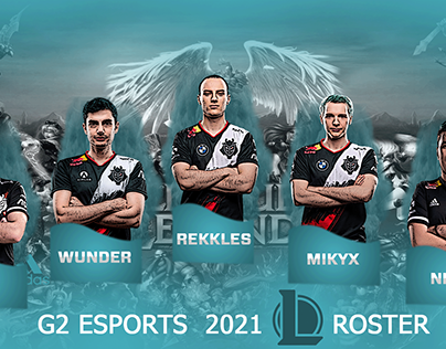G2 ESPORTS LEAGUE OF LGENDS 2021 ROSTER -G2 ESPORTS