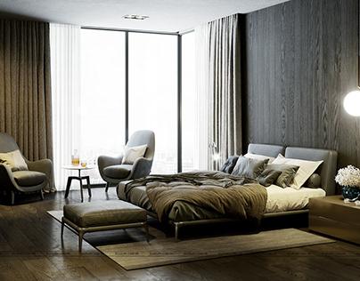 Bedroom- Skyvilla-vinhomes-metropolis