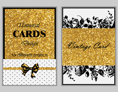 Glam and Vintage Cards.