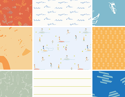 SURFACE PATTERN DESIGN - BEACH PLAY - Fabric Collection