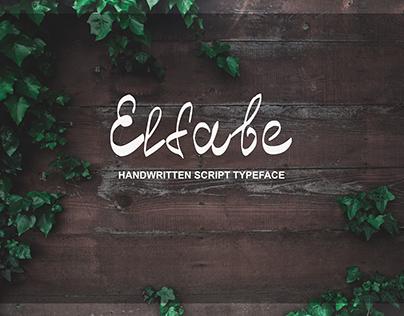 Elfabe — Free Cyrillic Handwritten Typeface