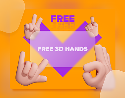 Free 3D HANDS ICONS